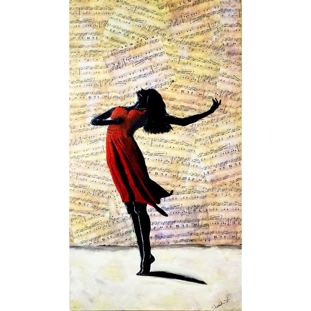 Dance With Me Fabric Wall Poster - C.W. Art Studio