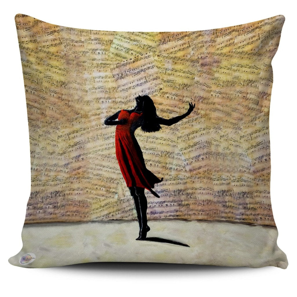 Dance With Me Throw Pillow Cover 18x18in