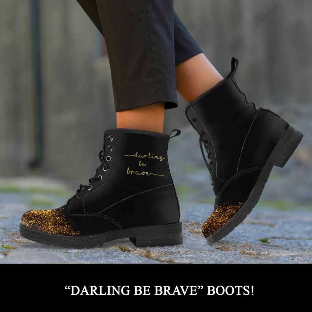 Darling Be Brave Boots - C.W. Art Studio