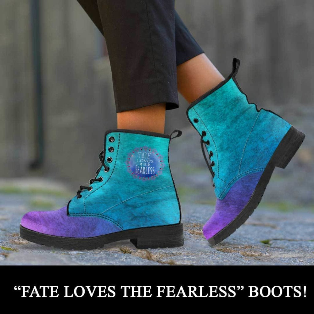 Fate Loves The Fearless Boots - C.W. Art Studio