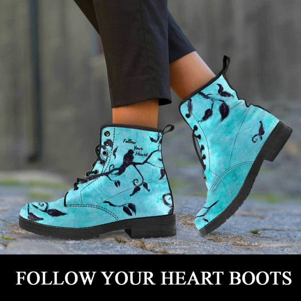 Follow Your Heart Boots - C.W. Art Studio
