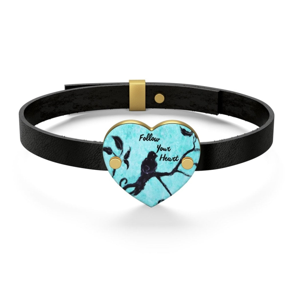 Follow Your Heart Leather Bracelet - C.W. Art Studio
