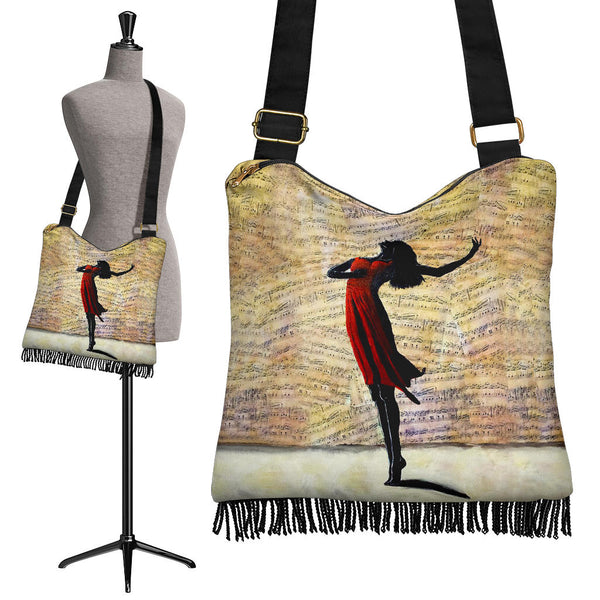 Dance With Me Music Boho Crossbody Bag Purse