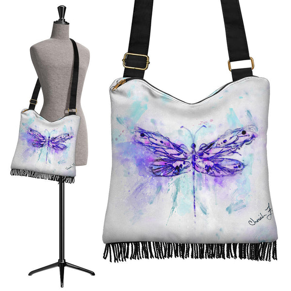 Purple Dragonfly Boho Cross Body Purse