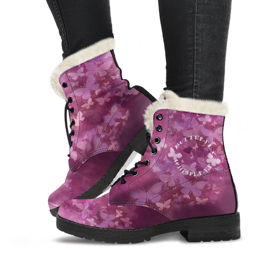 Butterfly Whisperer Fur Lined Leather Boots by SophieStar
