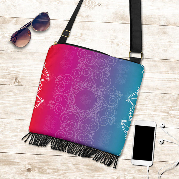 Mystic Rainbow Boho cross Body Bag Purse