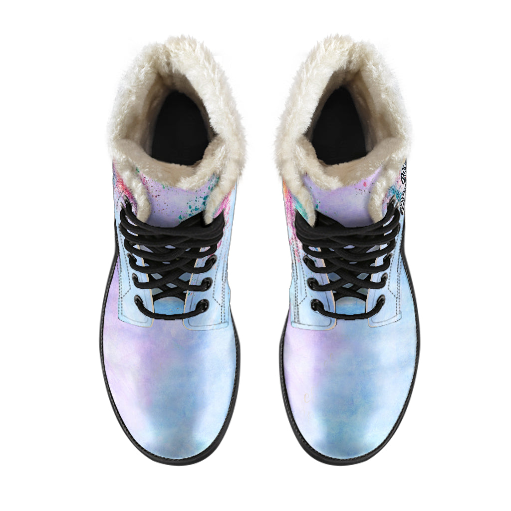 Colorfall Reign Fur Lined Leather Boots