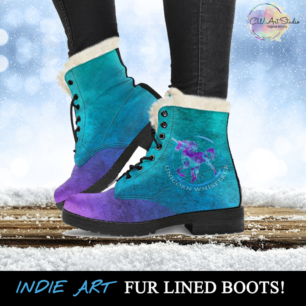 Unicorn Whisperer Fur Lined Leather Boots