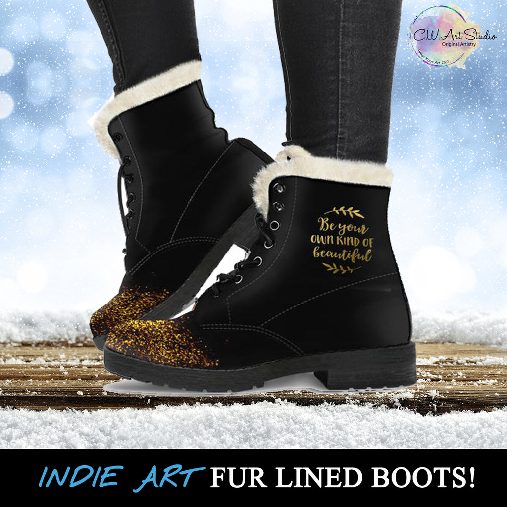 Fur Lined Leather Boots - Be Your Own Kind Of Beautiful