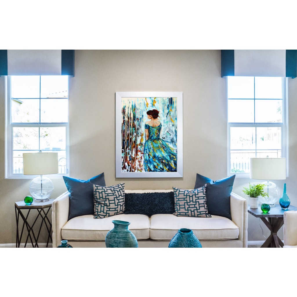 Her Storm Glicee Canvas Print