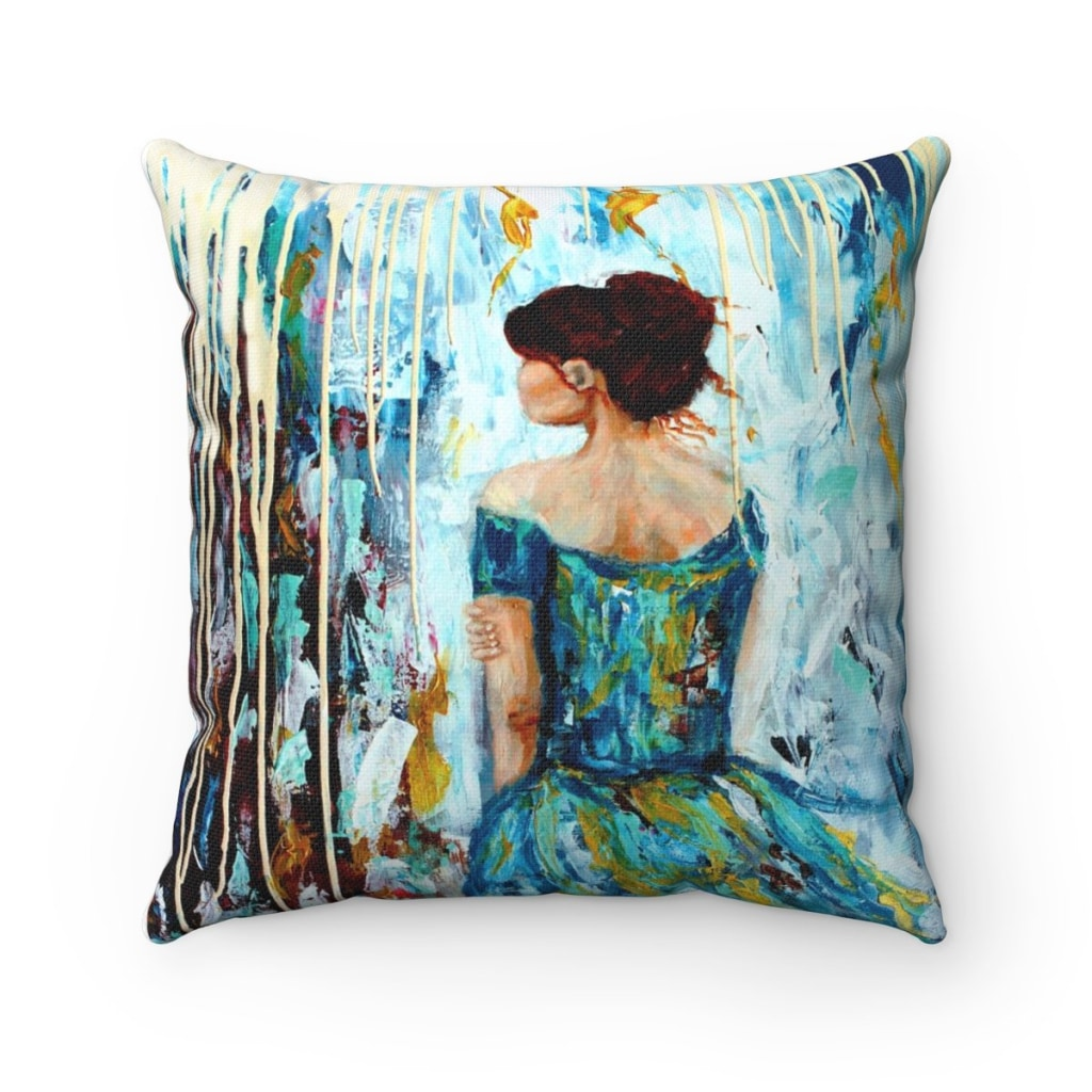 Her Storm I Throw Pillow
