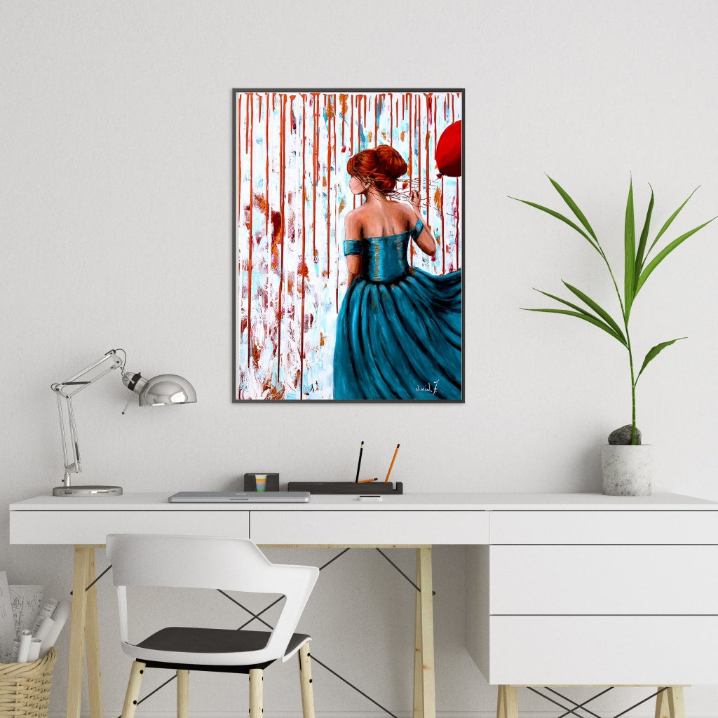 Her Storm III Glicee Canvas Print