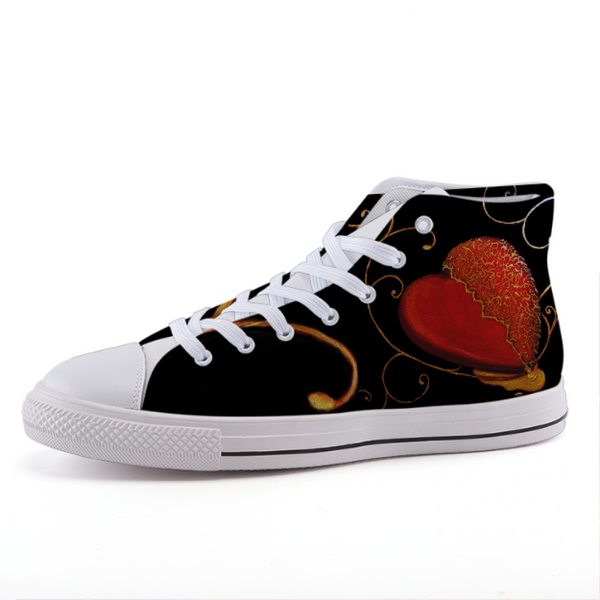 High-Top Fashion Canvas Shoes - 35 - Shoes C.w. Art Studio