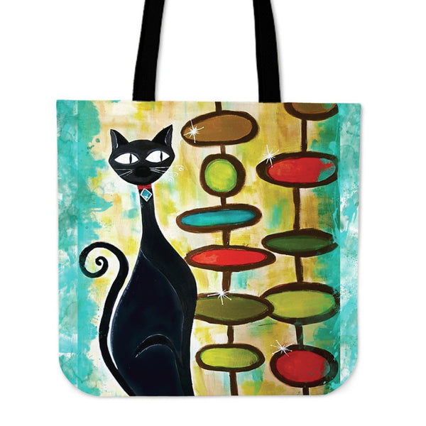 Hip Kitty Tote Bag - Tote Bags C.w. Art Studio