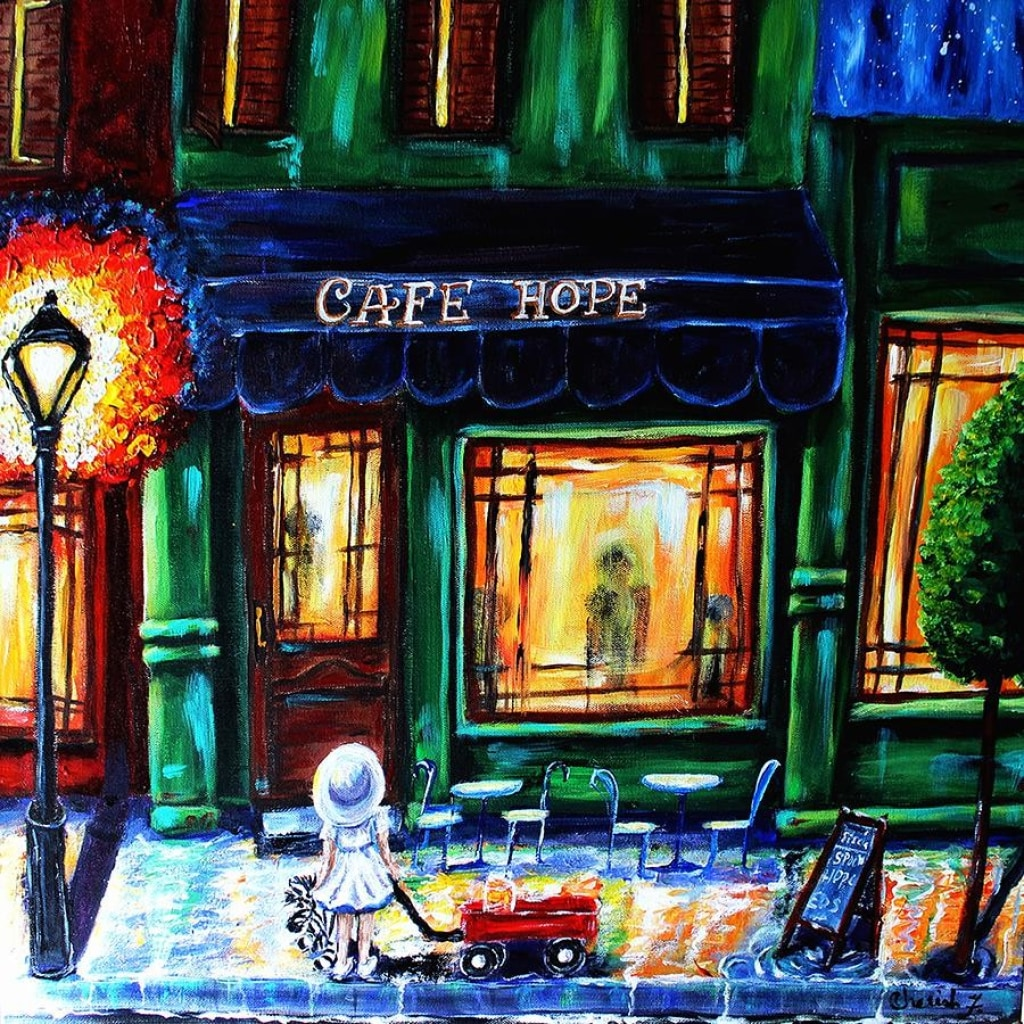 Hope Cafe Cotton Rag Fine Art Prints - C.W. Art Studio