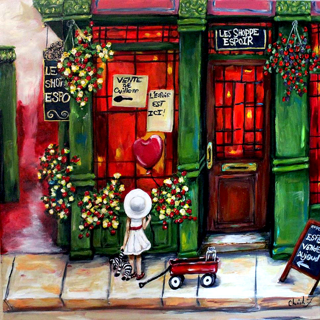 Hope Shoppe Giclée Art  Print- Artist Signed Matted