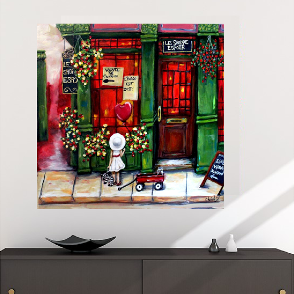 Hope Shoppe Glicee Canvas Print - Canvas Art Print C.w. Art Studio