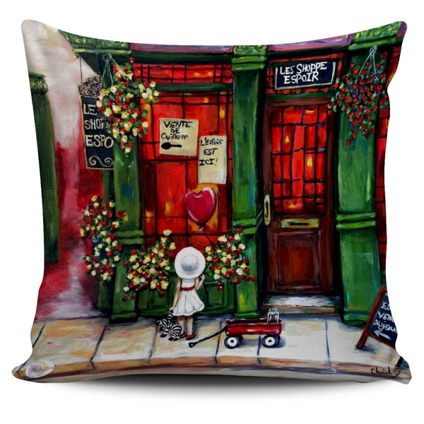 Hope Shoppe Throw Pillow Cover 18x18in