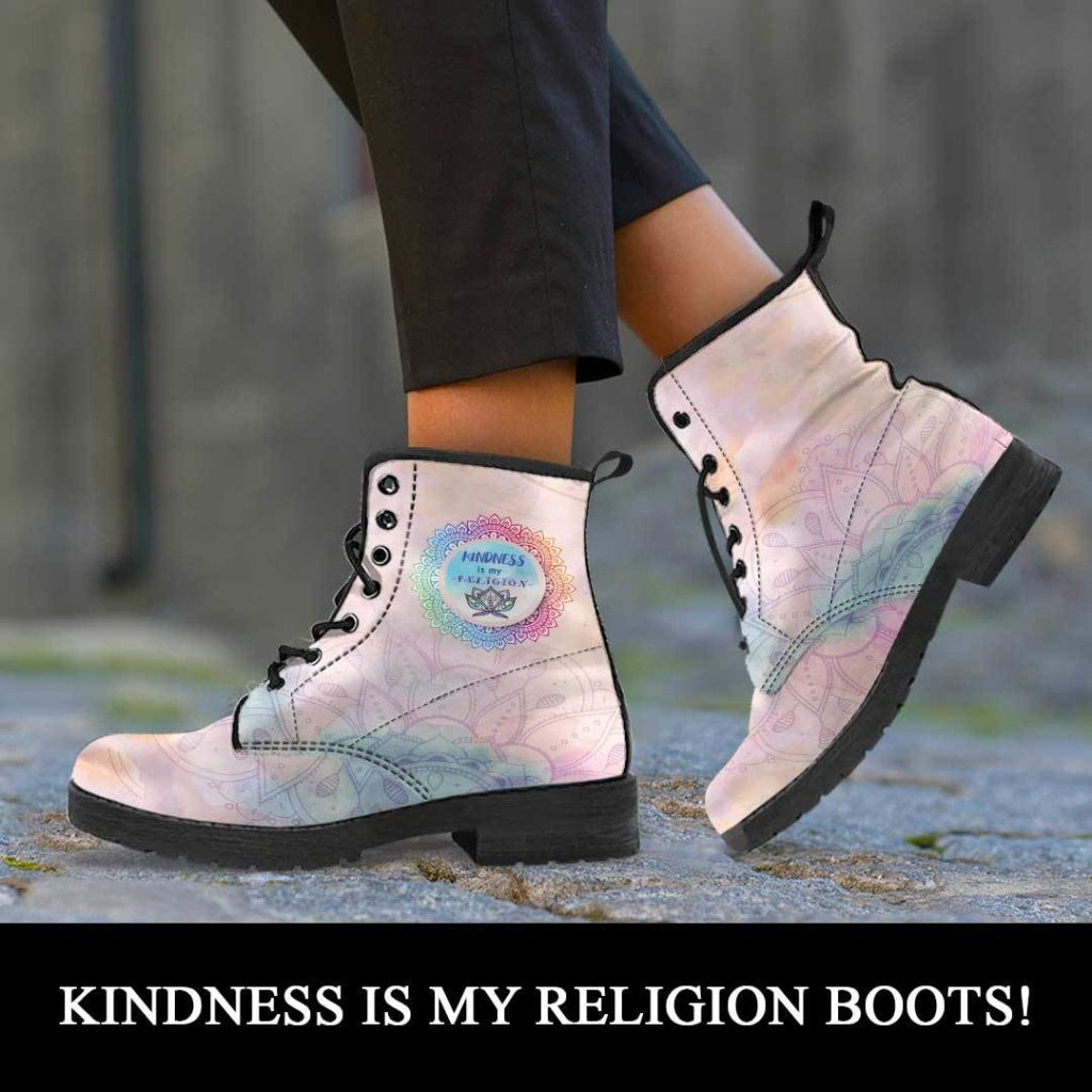 Kindness Is My Religion Boots - C.W. Art Studio