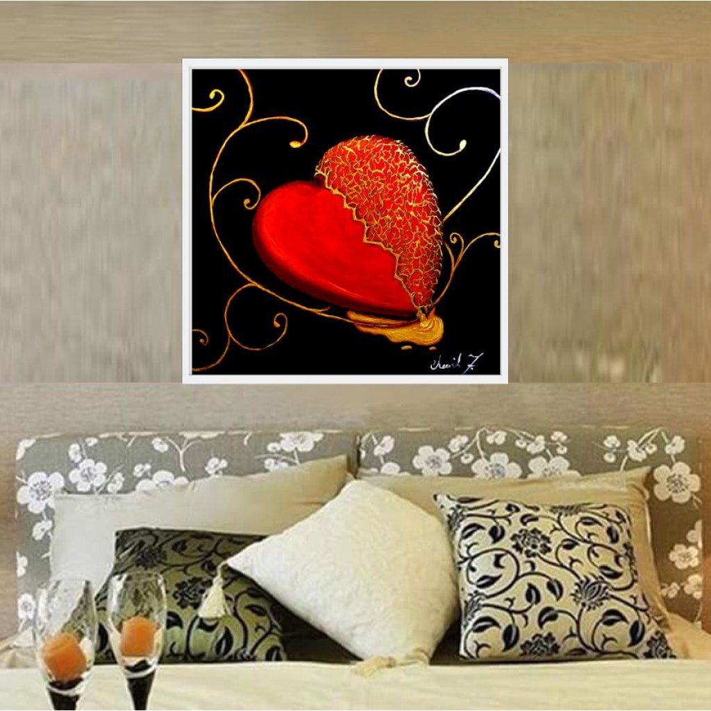 Kintsugi Heart Cotton Rag Fine Art Prints - C.W. Art Studio