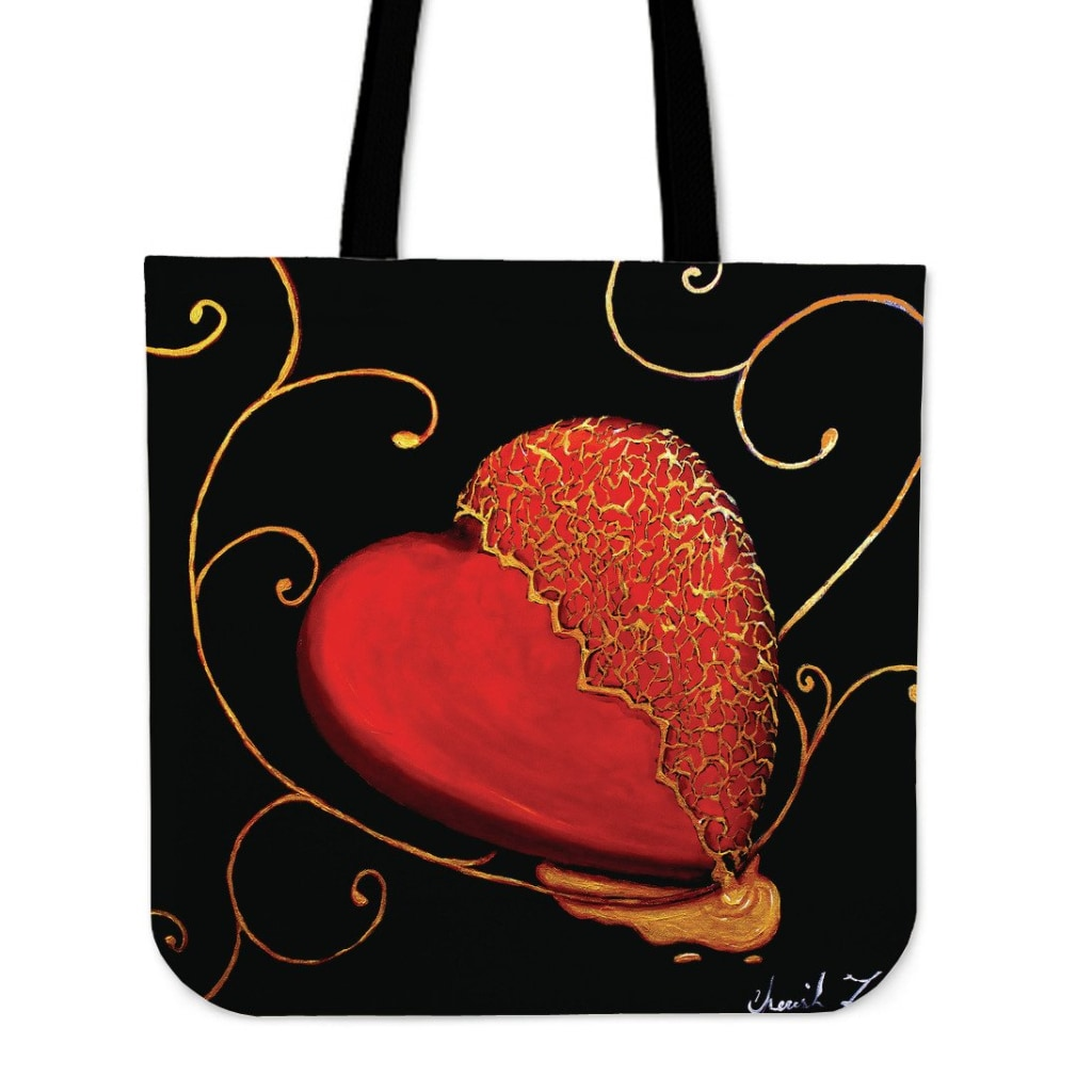 Kintsugi Heart Tote Bag