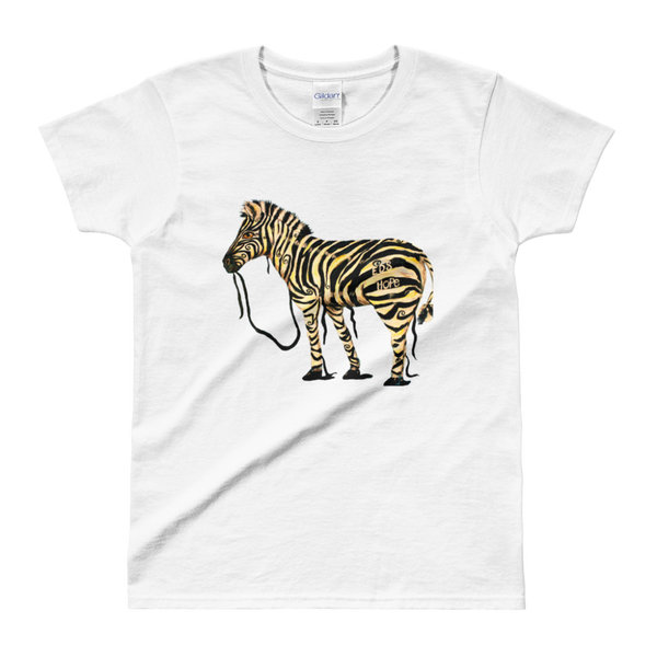 Ladies' T-shirt - EDS Hope Zebra - C.W. Art Studio