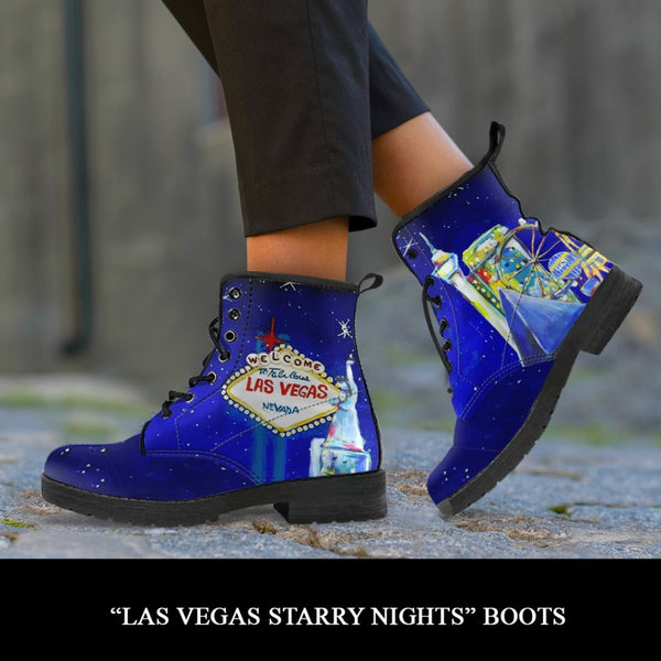 Las Vegas Starry Night Boots - C.W. Art Studio