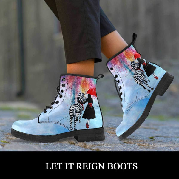 Let it Reign Boots - C.W. Art Studio
