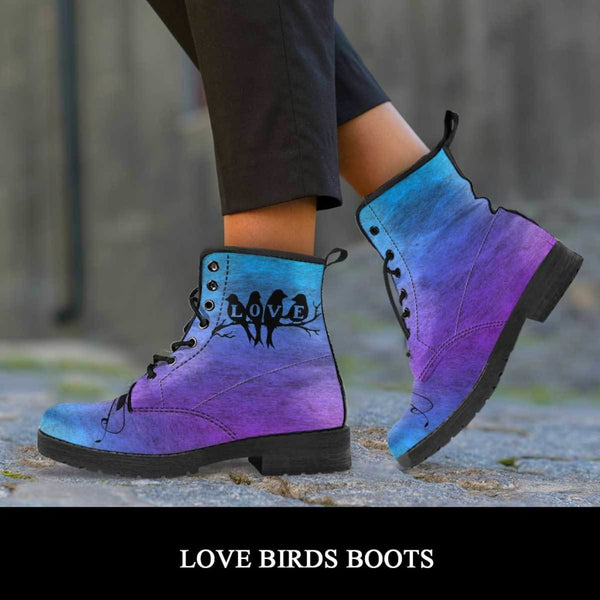Love Birds Boots - C.W. Art Studio