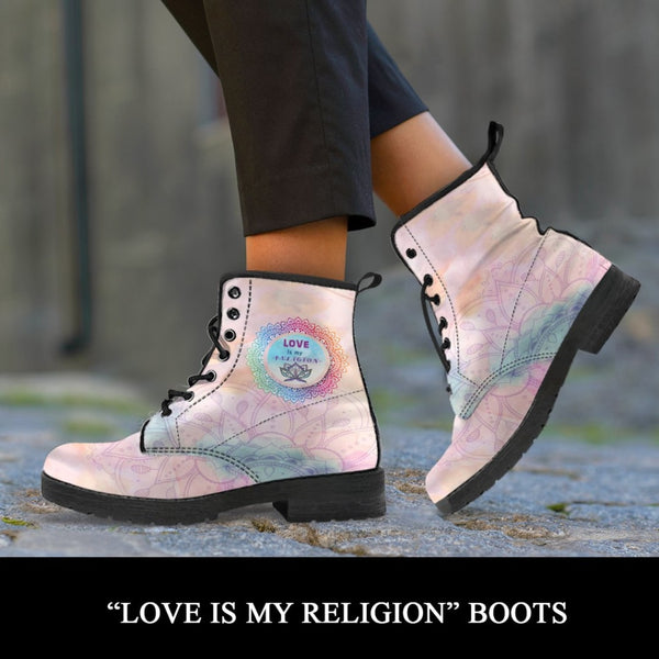 Love Is My Religion Boots - C.W. Art Studio