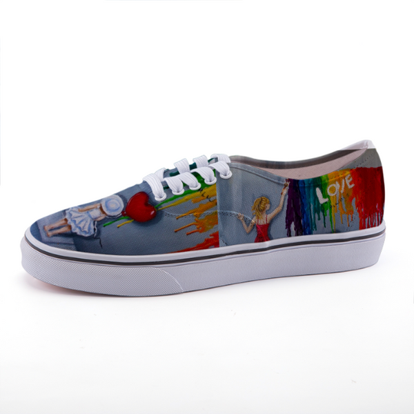 Low-top canvas shoes - Love Design - C.W. Art Studio