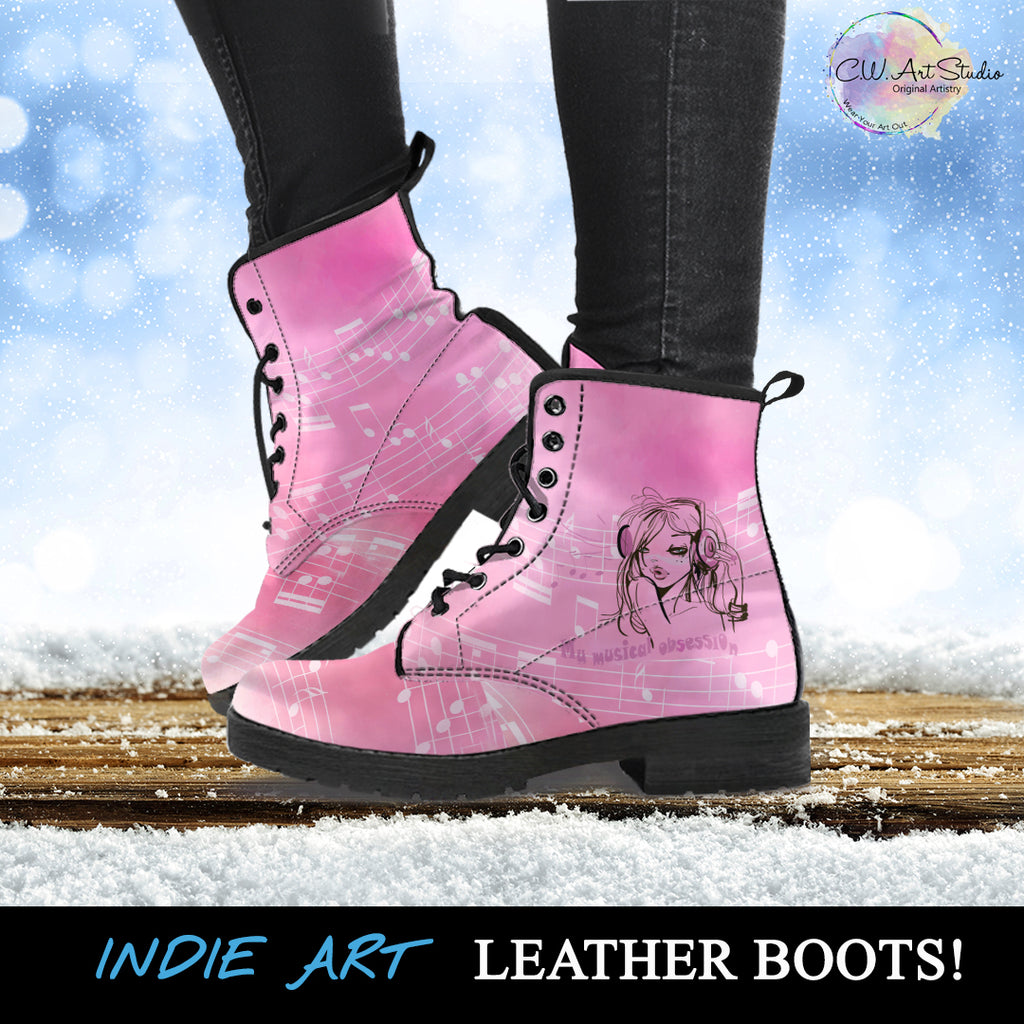 My Musical Obsession Leather Boots by SophieStar