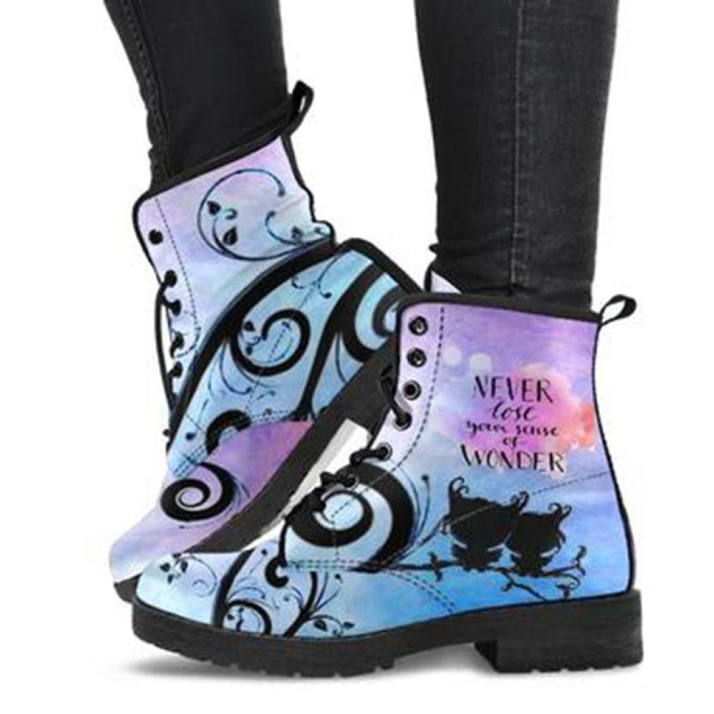 Never Lose Your Sense of Wonder Boots - C.W. Art Studio