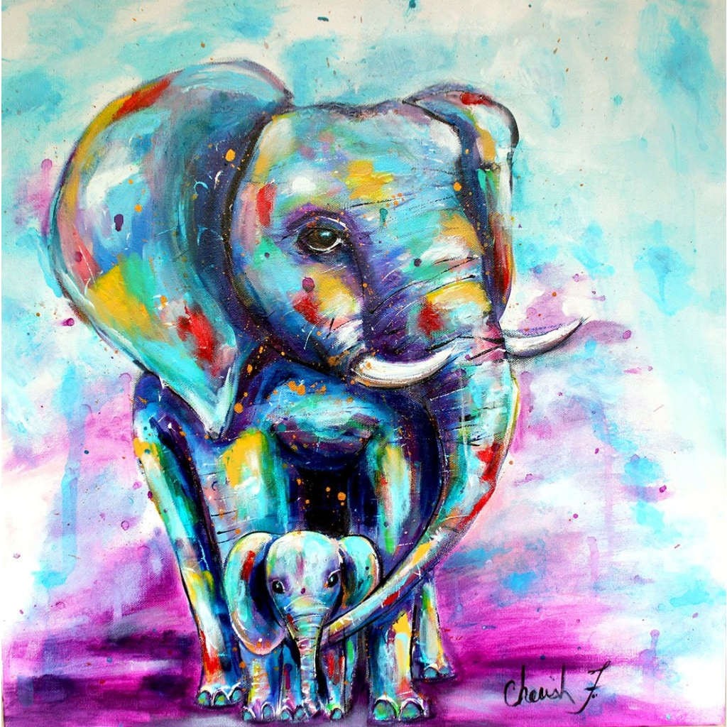 Oliphant Love Glicee Canvas Print