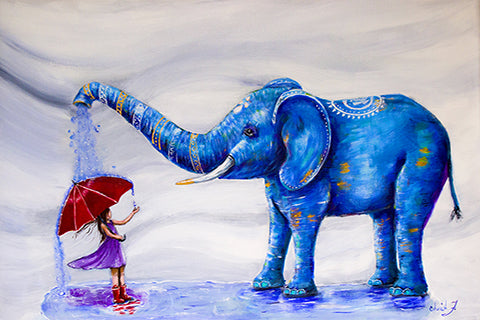 Blessings of the Oliphant Artist Embellished Limited Edition Giclée Print