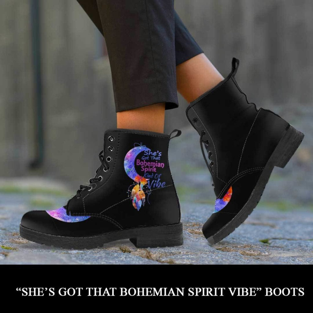 She's Got Bohemian Spirit Kind Of Vibe Boots - C.W. Art Studio