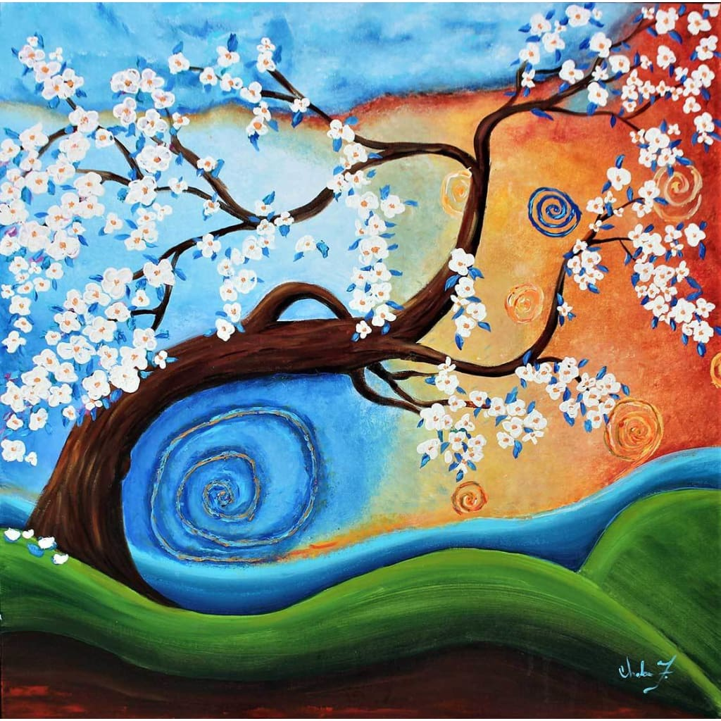 SOLD! Original Art -Winds of Whimsy - C.W. Art Studio
