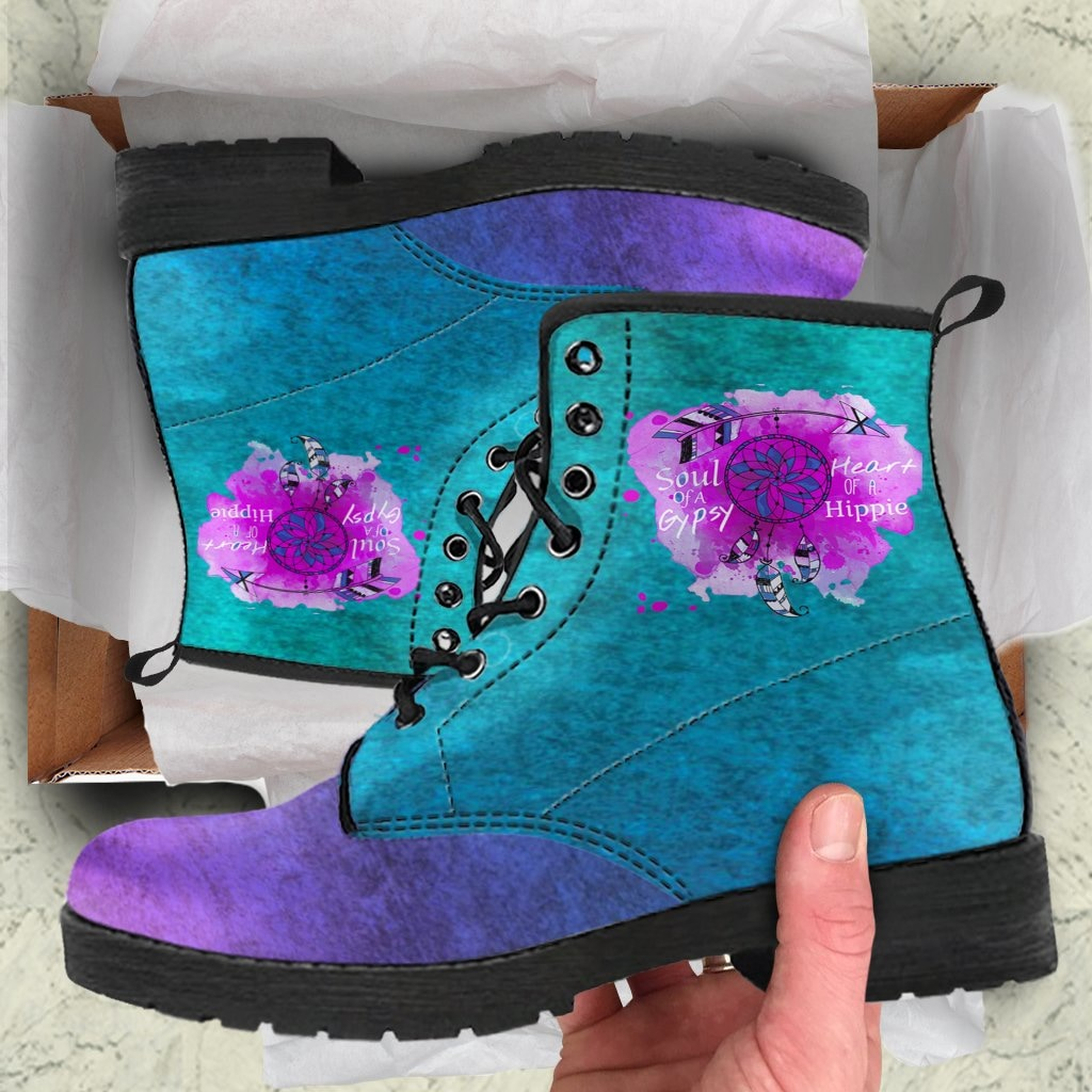 Soul Of A Gypsy Heart Of A Hippie Boots - C.W. Art Studio