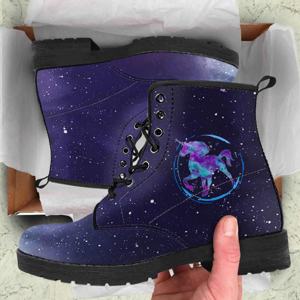 Starry Unicorn Leather Boots by SophieStar