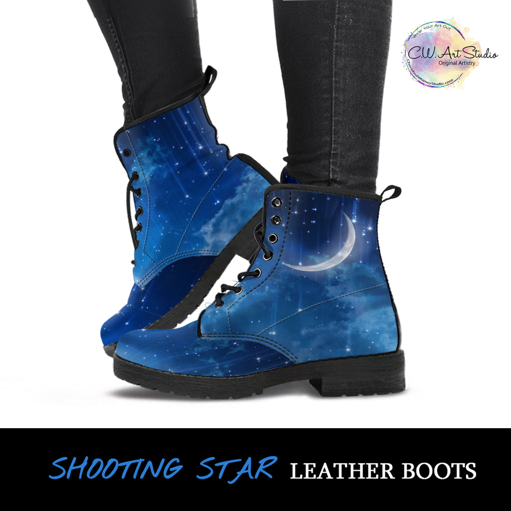 Shooting Star Leather Boots by SophieStar