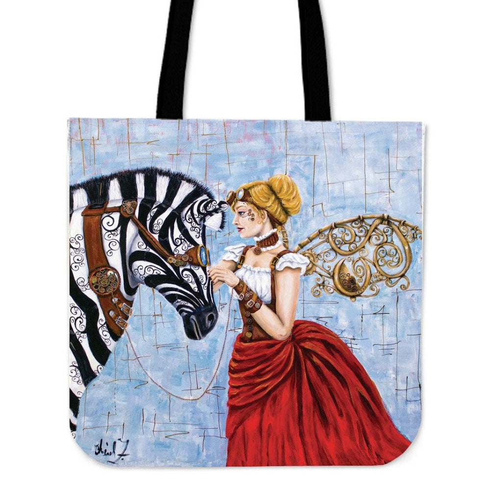 Steampunk Angel Tote Bag - Tote Bags C.w. Art Studio