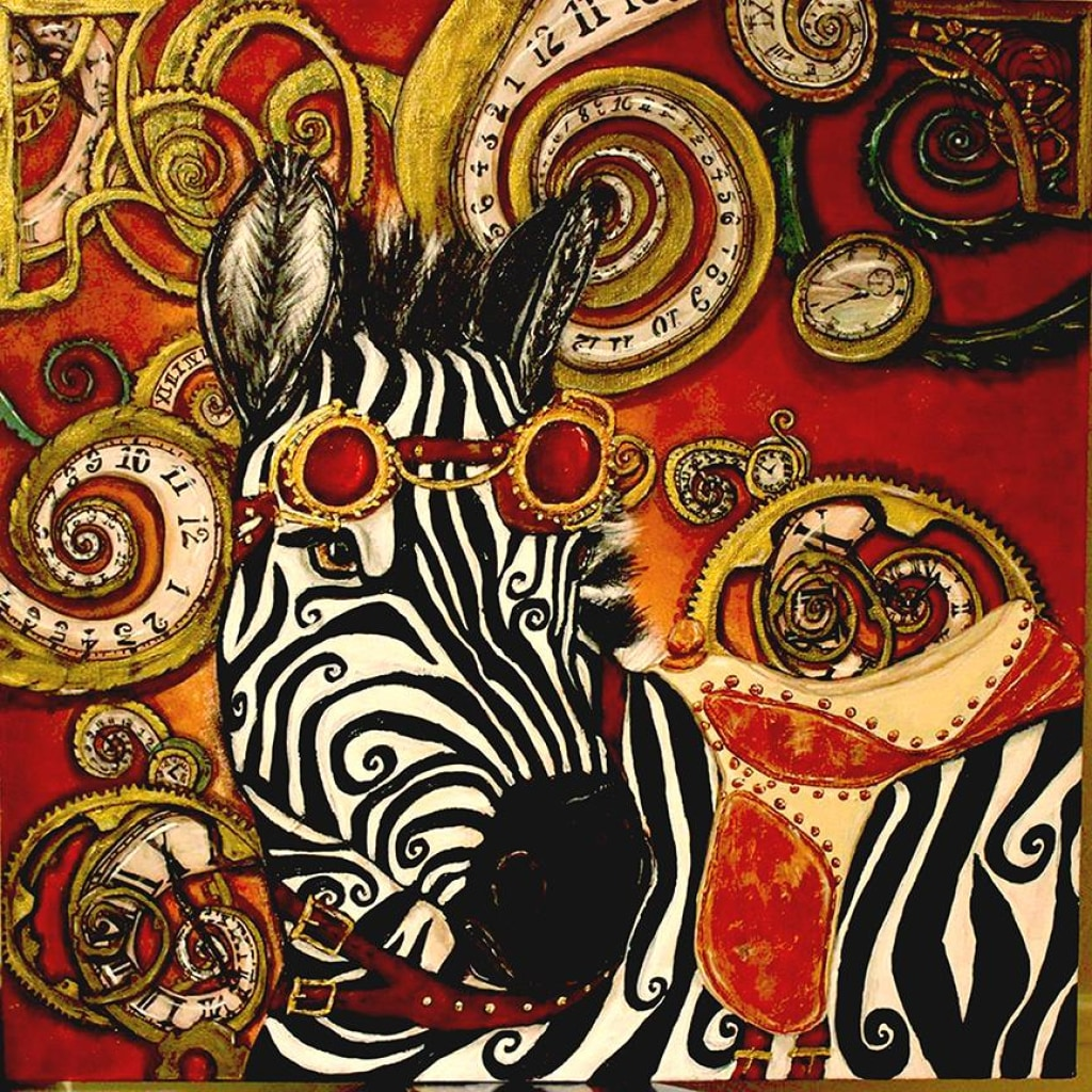 Steampunk Zebra Fine Art Prints