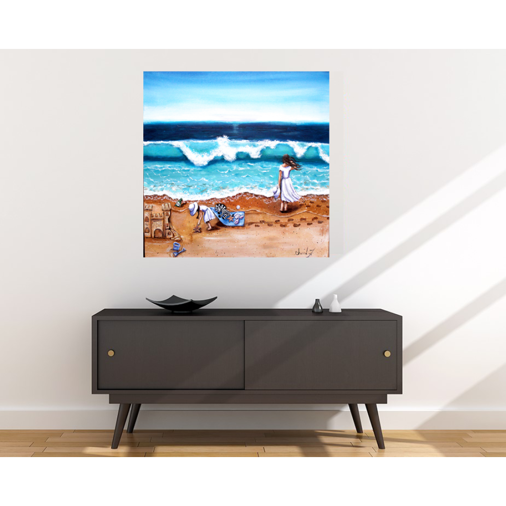 The Beach Fabric Wall Poster - C.W. Art Studio