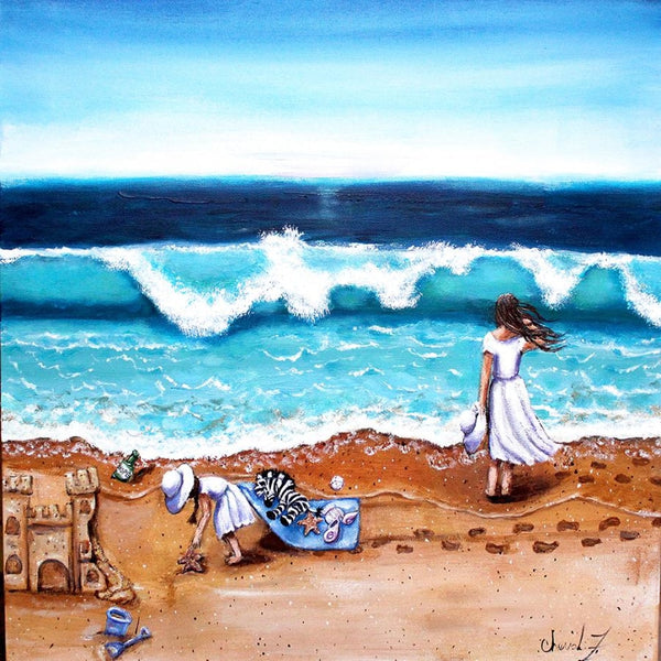 The Beach Giclée Art Print - Artist Signed Matted - Artist Signed Print C.w. Art Studio