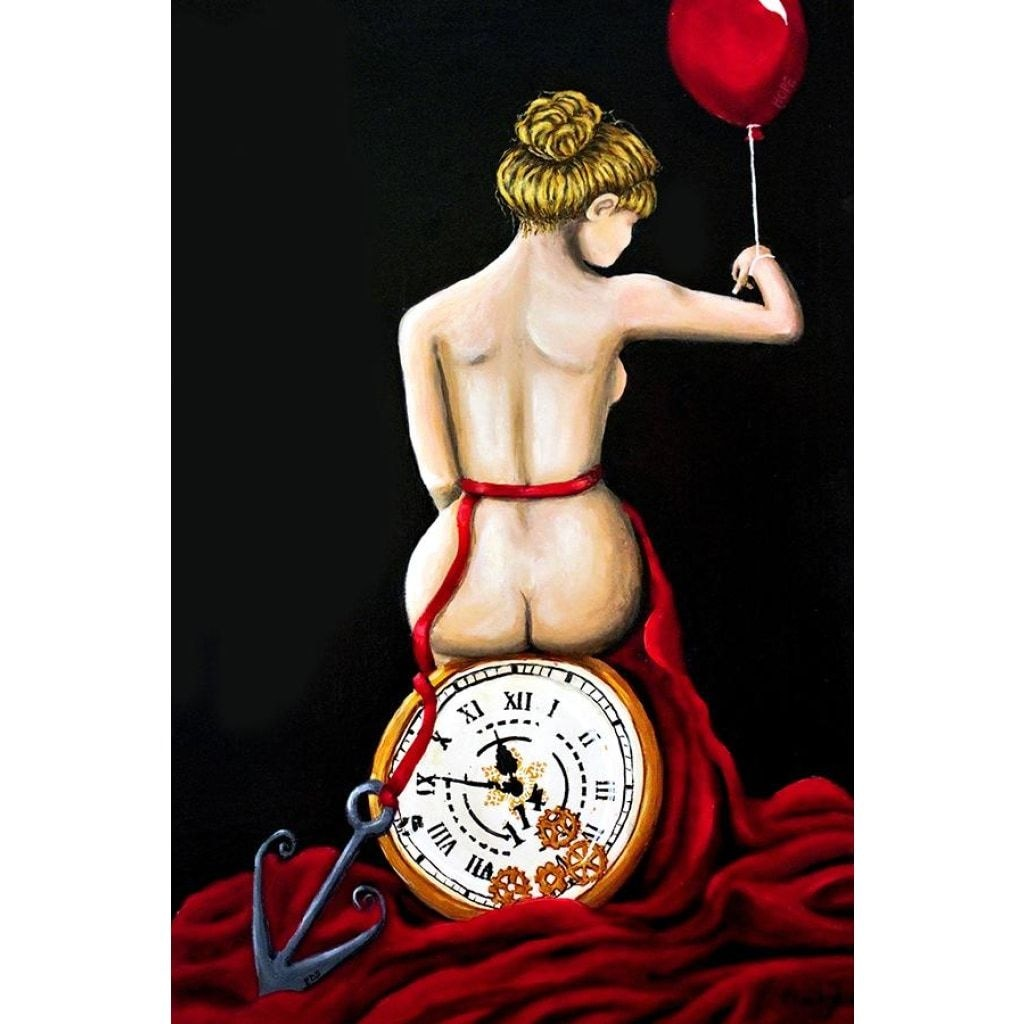 Time Thief Fabric Wall Poster - C.W. Art Studio