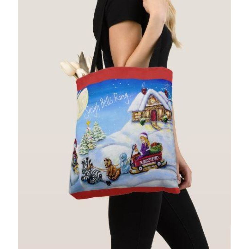 Tote Bag - Christmas 2017 Sleigh Bells Ring... - Tote Bags C.w. Art Studio