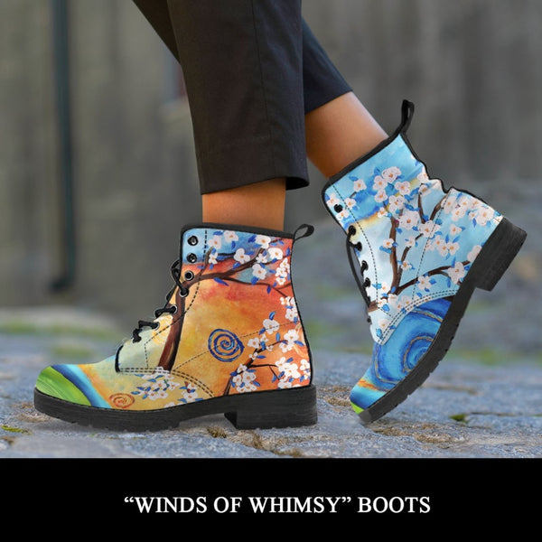 Winds Of Whimsy Boots - C.W. Art Studio