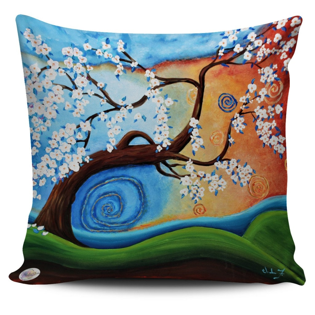 Winds of whimsy Throw Pillow Cover 18x18in