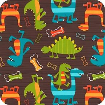 (Made to Order) Dino Dudes Wet Bag