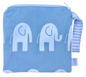 (Made To Order) Blue Ele Elephant Wet Bag